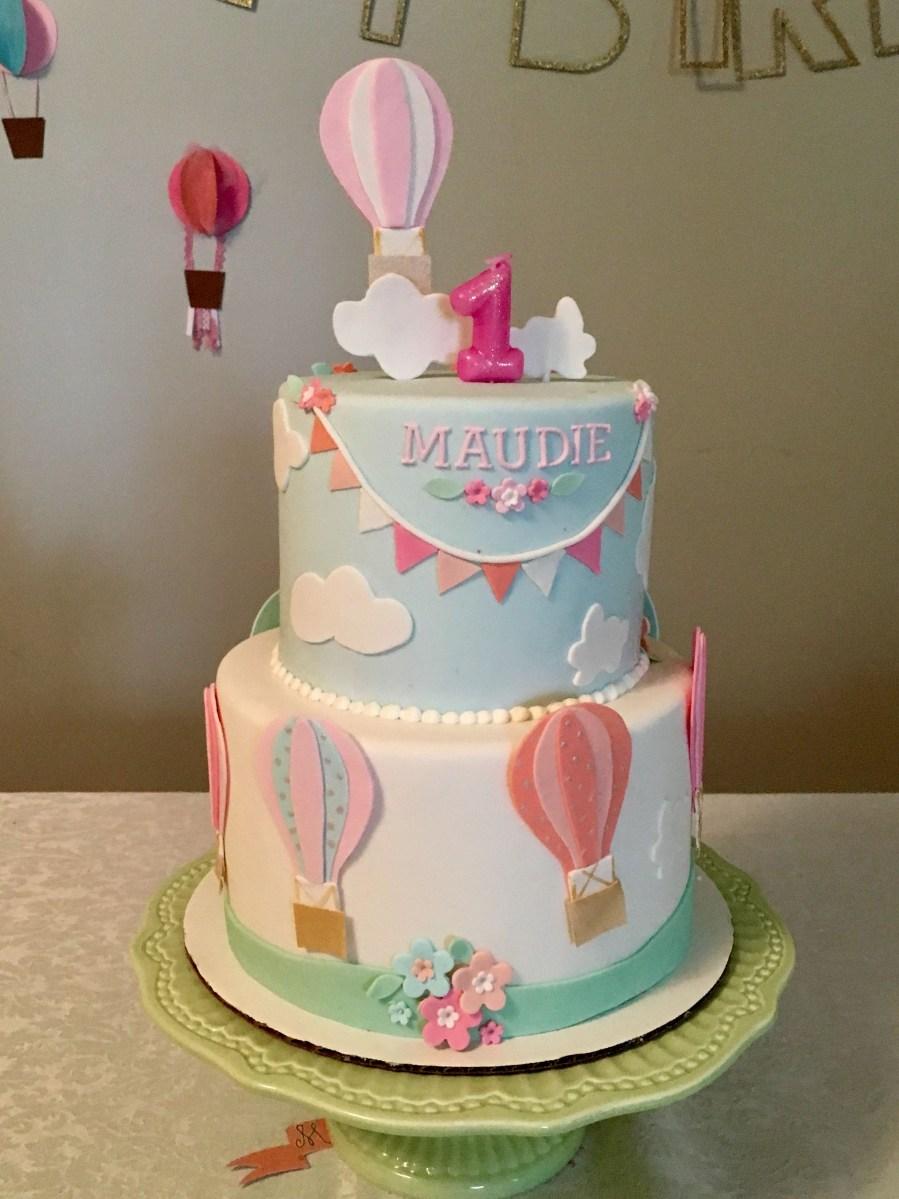 Balloon Birthday Cake 1st Birthday Hot Air Balloon Cake Hot Air Balloons In 2018