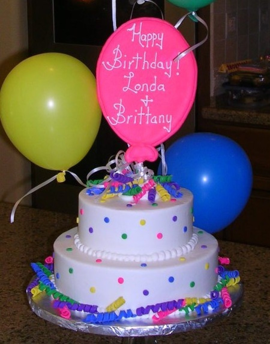 Balloon Birthday Cake Balloon Birthday Cake Cakecentral