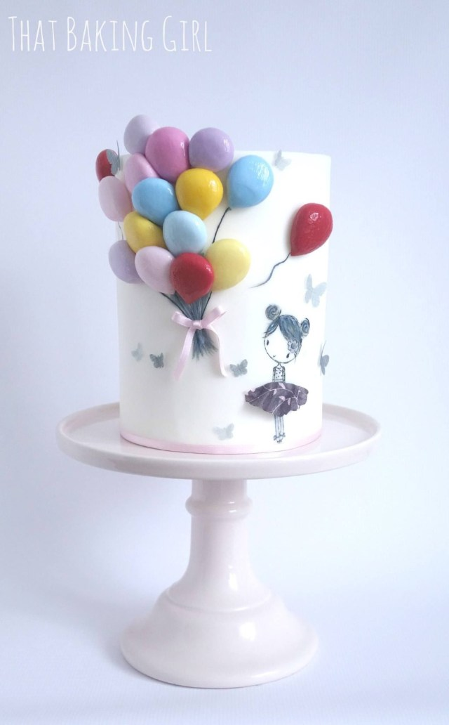Balloon Birthday Cake Birthday Cake Cute Cakes Pinterest Cake Birthday Cake And
