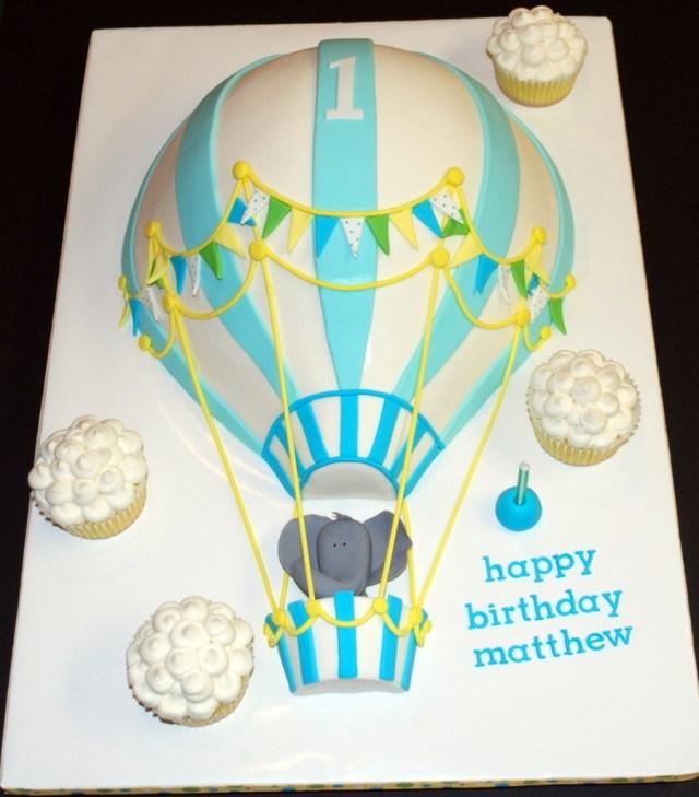 Balloon Birthday Cake Hot Air Balloon Birthday Cake Cakecentral