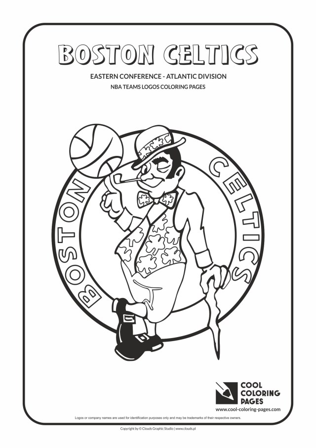 Basketball Coloring Pages Cool Coloring Pages Boston Celtics Nba Basketball Teams Logos
