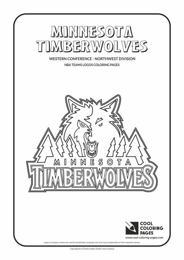 Basketball Coloring Pages Cool Coloring Pages Minnesota Timberwolves Nba Basketball Teams