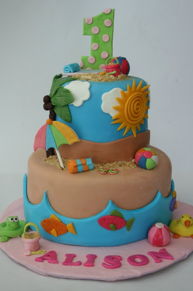 Beach Theme Birthday Cake 12 Beach Theme Cakes Party Ideas Photo Beach Party Birthday Cake