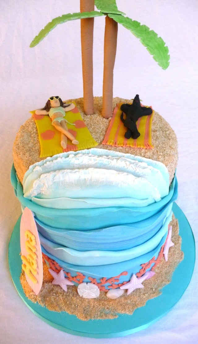 Beach Theme Birthday Cake Beach Theme Cake Cakecentral