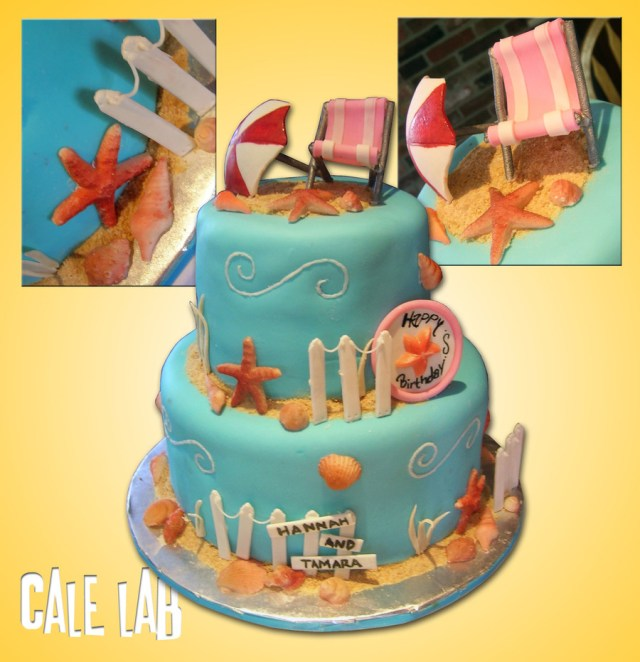Beach Theme Birthday Cake Beach Themed Birthday Cake Cakecentral