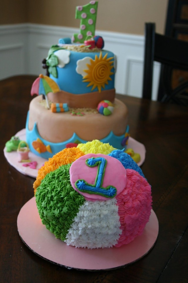Beach Theme Birthday Cake Beach Themed First Birthday Parties And Everything Sweet Beach