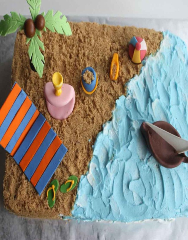 Beach Theme Birthday Cake Order Beach Themed Birthday Cake Gurgaonbakers