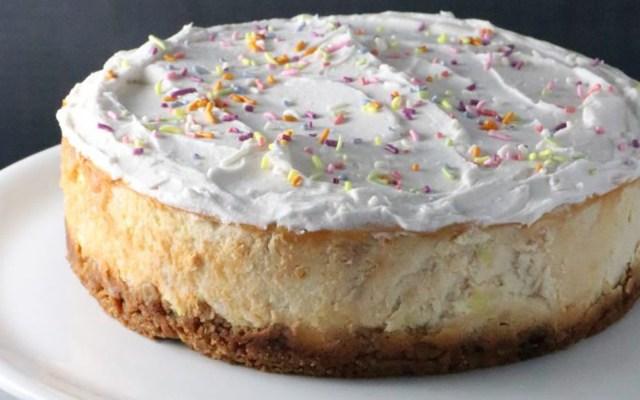 Birthday Cake Cheesecake Birthday Cake Cheesecake With Sugar Cone Crust Vegan Gluten Free