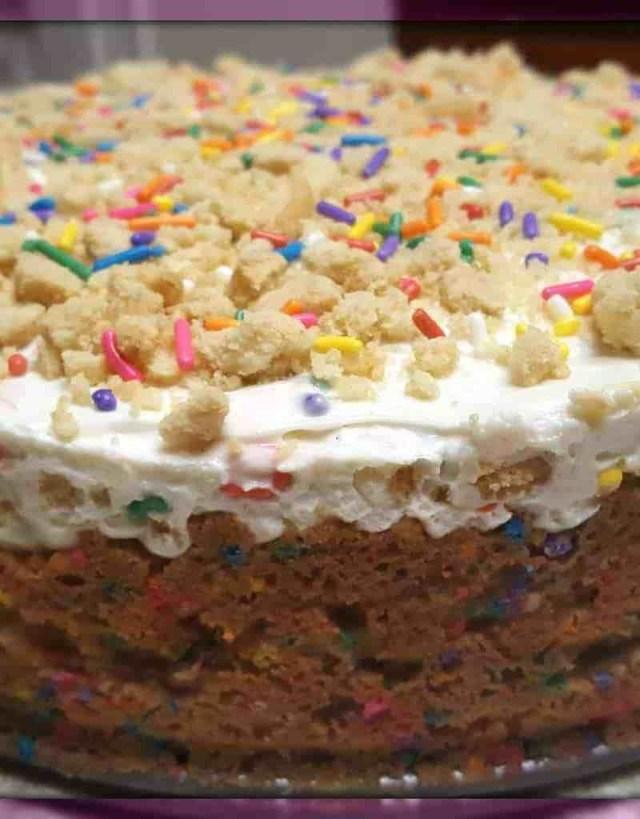 Birthday Cake Cheesecake Funfetti Birthday Cake Cheesecake Desserts Pinterest Desserts