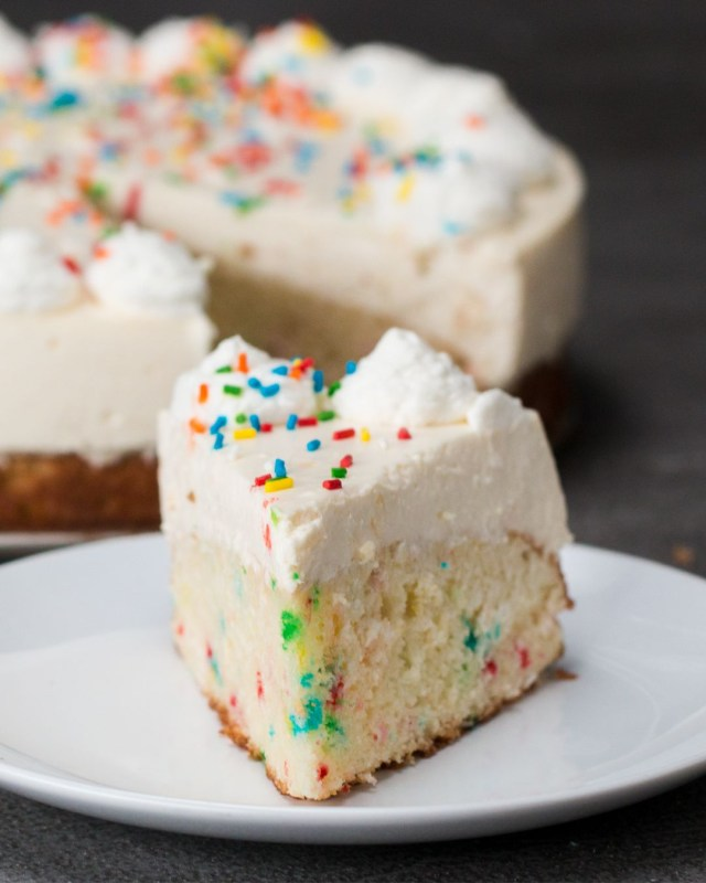 Birthday Cake Cheesecake This Birthday Cake Bottom Cheesecake Is The Only Way You Should Eat