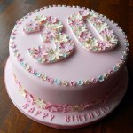 Birthday Cake Designs For Adults Flowery 30th Birthday Cake Fun Cakes Pinterest 30 Birthday