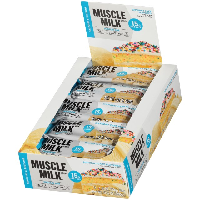 Birthday Cake Flavors Muscle Milk Flavored Protein Bars 12 176 Oz