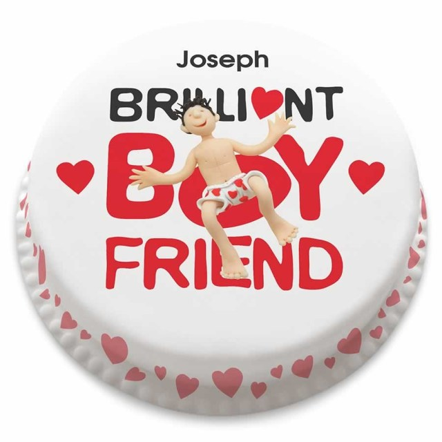 Birthday Cake For Boyfriend Personalised Brilliant Boyfriend Cake With Hearts From 1499