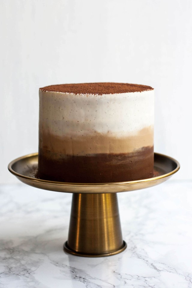 Birthday Cake Frosting Tiramisu Layer Cake With Ombre Mascarpone Frosting Eat Love Eat