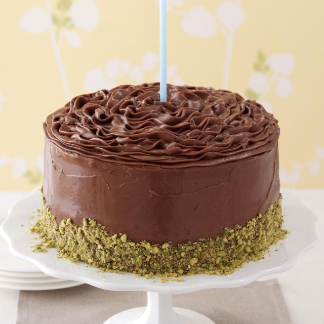 Birthday Cake Icing Recipe Banana Cake With Chocolate Frosting Recipe Taste Of Home