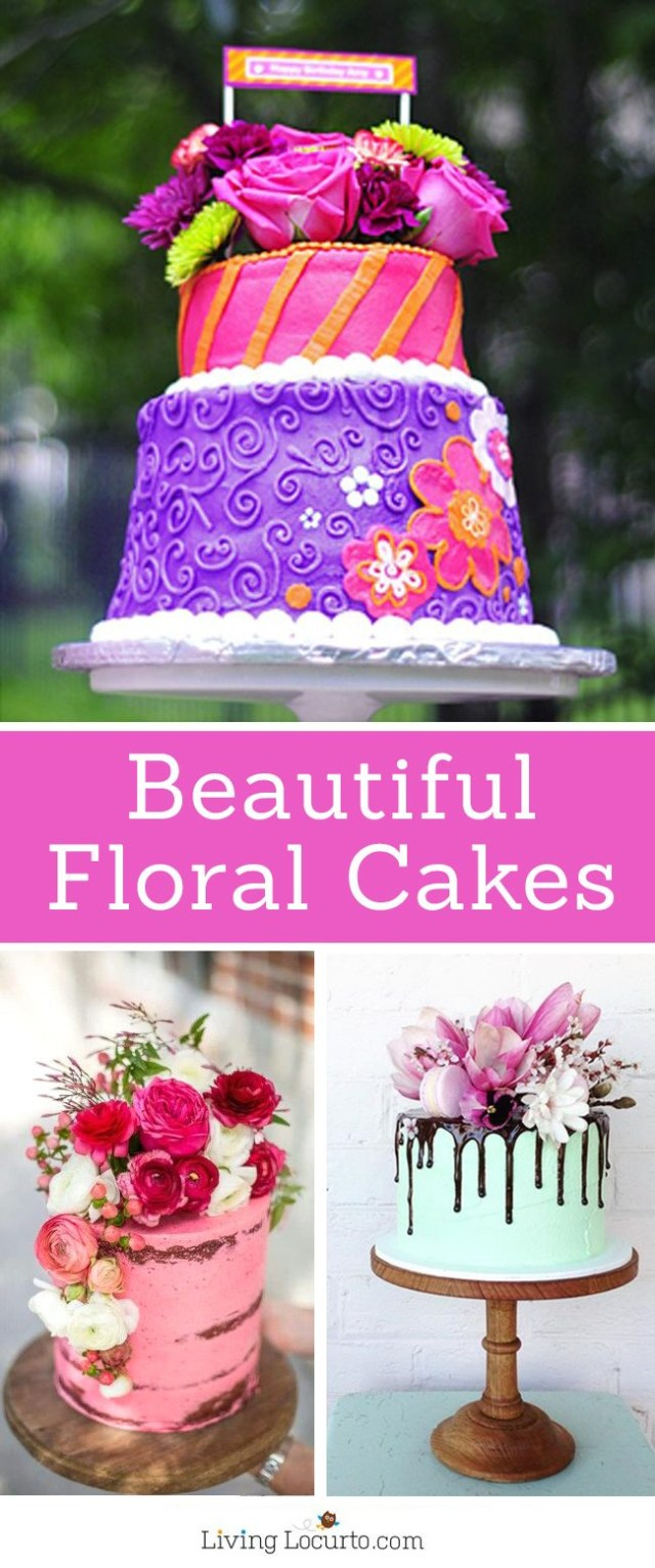 Birthday Cake Ideas For Adults Beautiful Floral Cakes Pretty Birthday Cake Ideas
