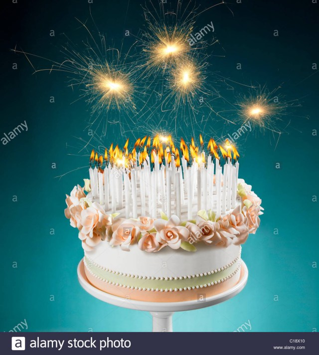 Birthday Cake Images With Candles Birthday Cake With Lots Of Burning Candles Stock Photo 35231420 Alamy