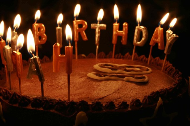 Birthday Cake Images With Candles Happy Birthday Chocolate Cakes With Candles Hd Wallpaper Full