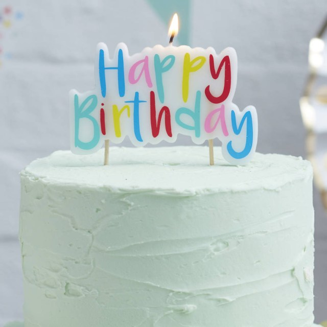 Birthday Cake Images With Candles Rainbow Party Cake Candles Birthday Party Supplies Online Uk