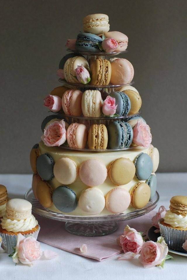 Birthday Cake Macarons 50th Birthday Macaron Cake Afternoon Crumbs