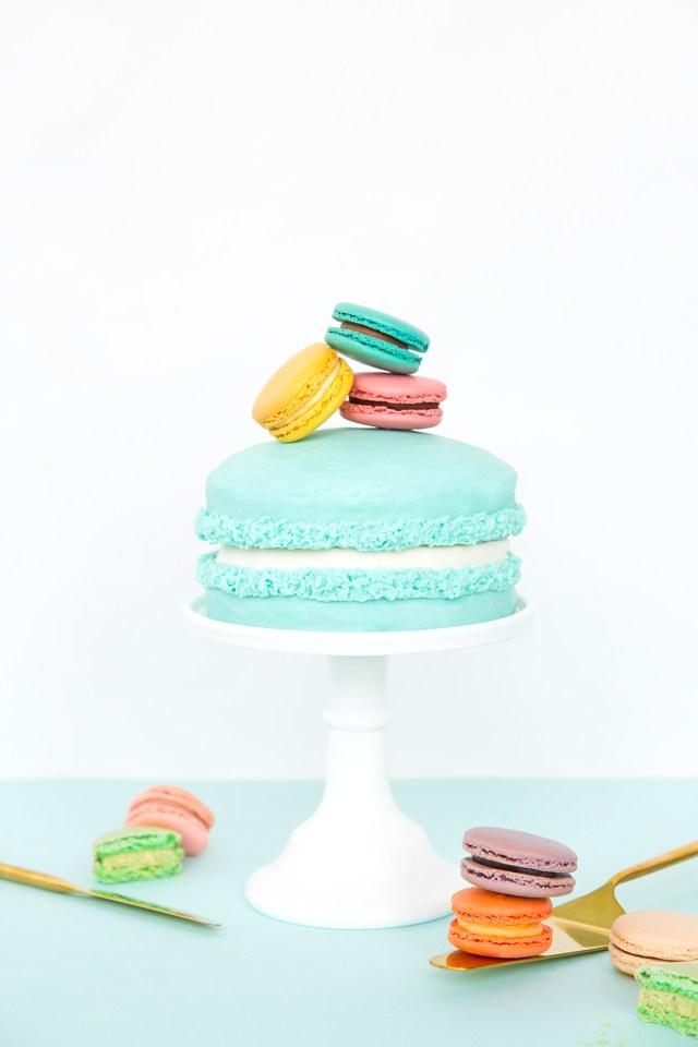 Birthday Cake Macarons Giant Macaron Cake