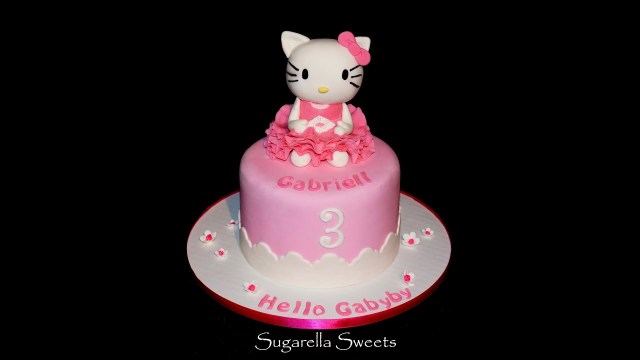 Birthday Cake Toppers For Adults Cake Decorating How To Make Hello Kitty Cake Topper Youtube