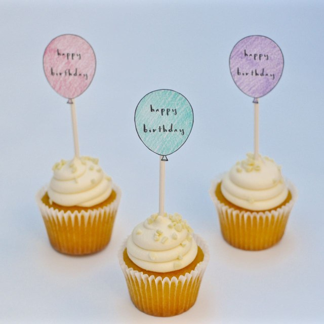 Birthday Cake Toppers For Adults Free Printable Birthday Cupcake Toppers Make Life Lovely