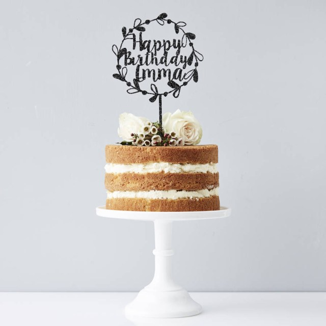 Birthday Cake Toppers For Adults Personalised Floral Birthday Cake Topper Sophia Victoria Joy