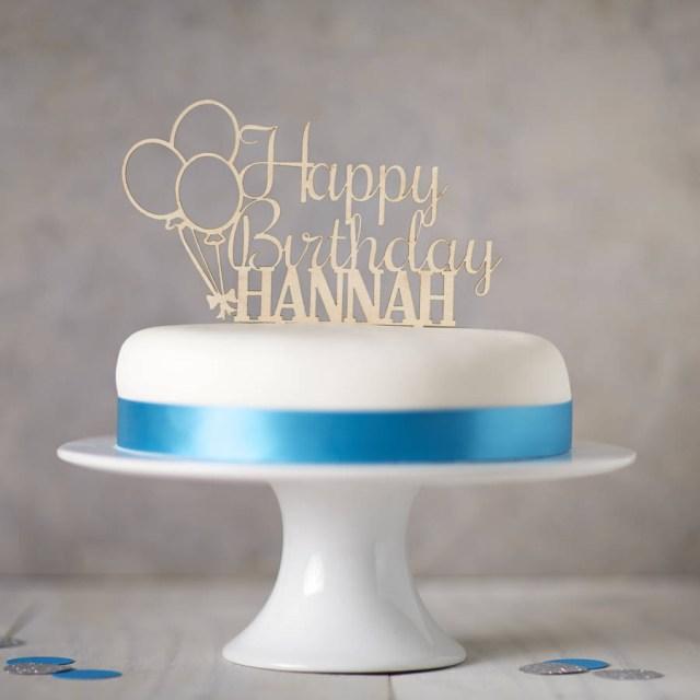 Birthday Cake Toppers Personalised Wooden Birthday Cake Topper Sophia Victoria Joy