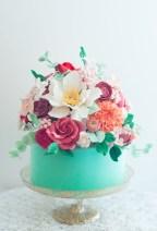 Birthday Cake With Flowers Aqua Floral Cake Lulus Sweet Secrets Cake Pinterest Cake