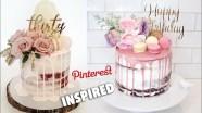 Birthday Cake With Flowers Semi Naked Drip Birthday Cake With Flowers Pinterest Inspired
