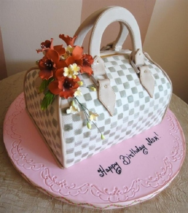 Birthday Cakes For Mom Custom Purse Birthday Cake For Mom Cakecentral