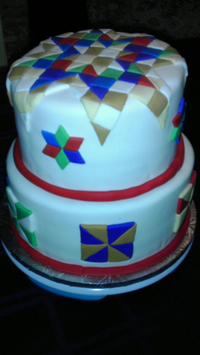 Birthday Cakes For Mom Quilt Cake Quilt Cakes Quilted Cake Cake Cupcake Cakes