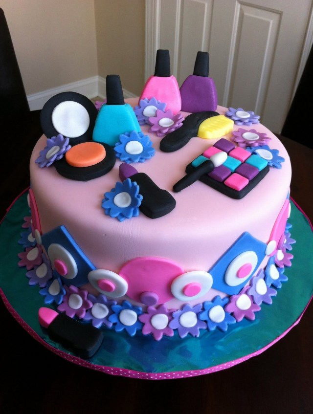 Birthday Cakes For Teenage Girl Spa Themed Birthday Cake Birthday Pinterest Cake Birthday