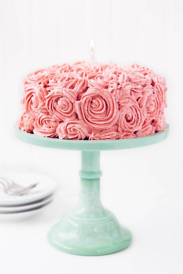 Birthday Cakes Strawberry Almond Birthday Cake Broma Bakery