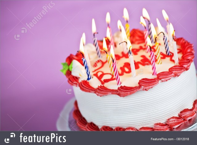 Birthday Cakes With Candles Birthday Cake With Lit Candles Picture