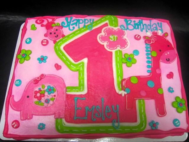 Birthday Party Cakes 1st Birthday Cheris Bakery