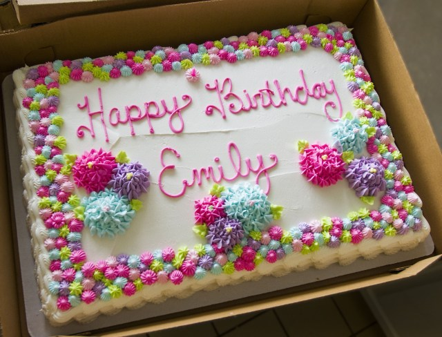 Birthday Party Cakes A Classic Floral Sheet Cake For A Birthday Celebration Cake 0054