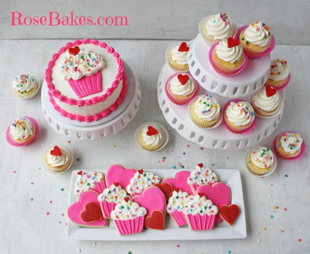 Birthday Party Cakes Cupcakes Hearts 1st Birthday Party Cookies Cupcakes Smash Cake