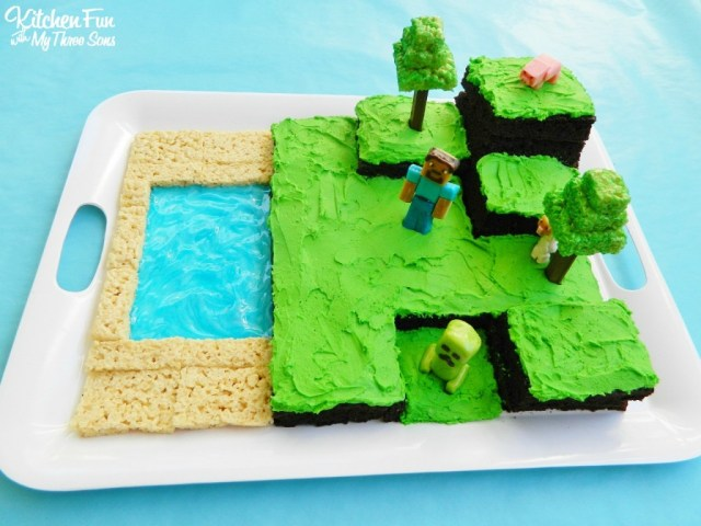 Birthday Party Cakes Easy Minecraft Birthday Party Cake Kitchen Fun With My 3 Sons