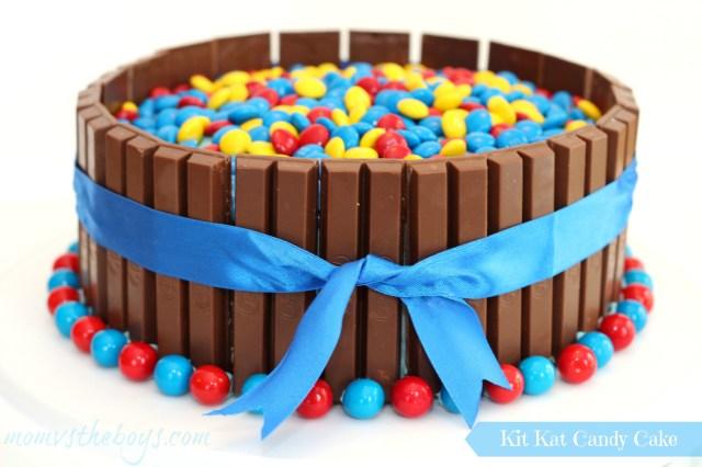 Boy Birthday Cakes Birthday Kit Kat Cake For Boys Mom Vs The Boys
