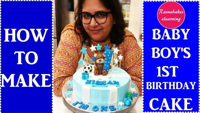Boys First Birthday Cake How To Make Ba Boys First Birthday Cakedecorating Tutorial Youtube