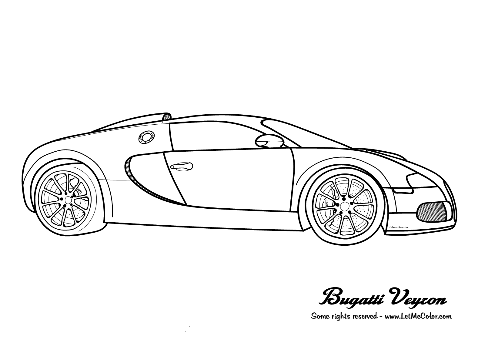 Bugatti Coloring Pages Bugatti Veyron Coloring Page Letmecolor