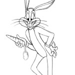 Bugs Bunny Coloring Pages Bugs Bunny Coloring Pages To Print Free Printable Ba Looney Tunes
