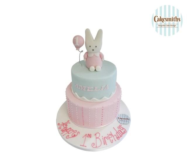 Bunny Birthday Cake Bunny 1st Birthday Cake