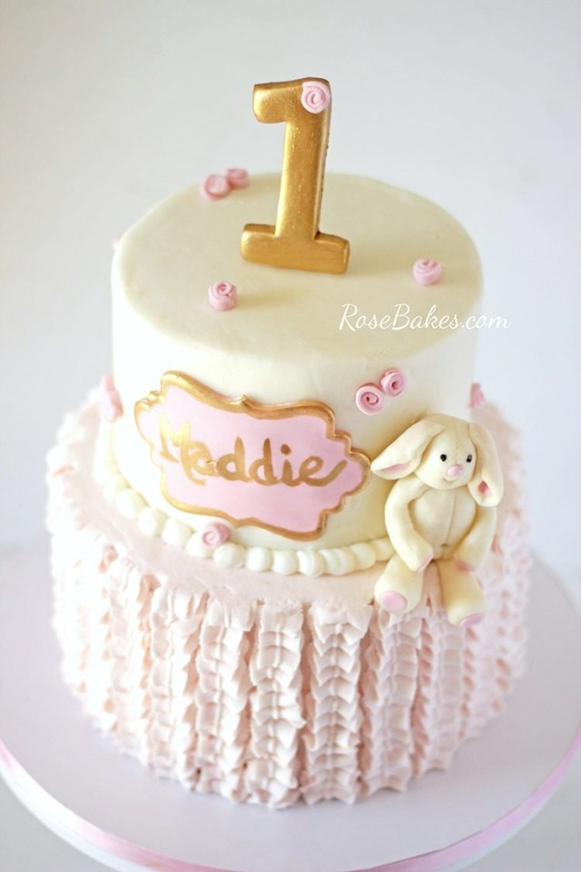 Bunny Birthday Cake Bunny 1st Birthday Cakes Rose Bakes
