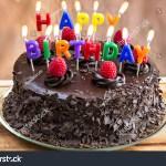 Cake Happy Birthday Happy Birthday Candles On Chocolate Cake Stockfoto Jetzt Bearbeiten