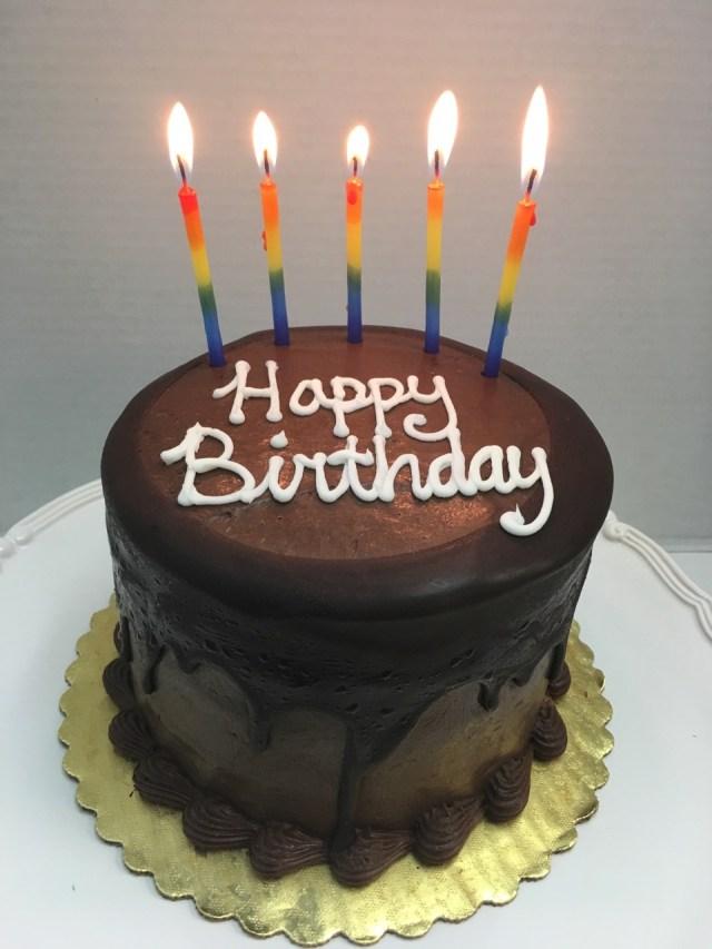 Cake Happy Birthday Moist Chocolate Layer Cake Tall Birthday Cake Fort Lauderdale