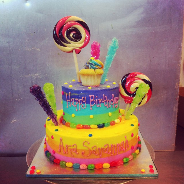 Candyland Birthday Cake Candyland Theme Birthday Cake Chelsea Mead Flickr