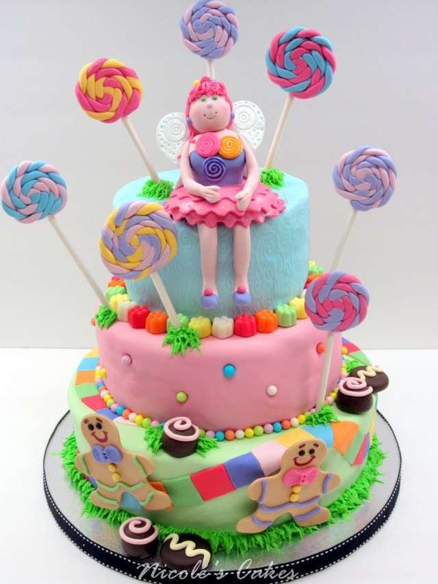 Candyland Birthday Cake On Birthday Cakes Colorful Candyland Cake